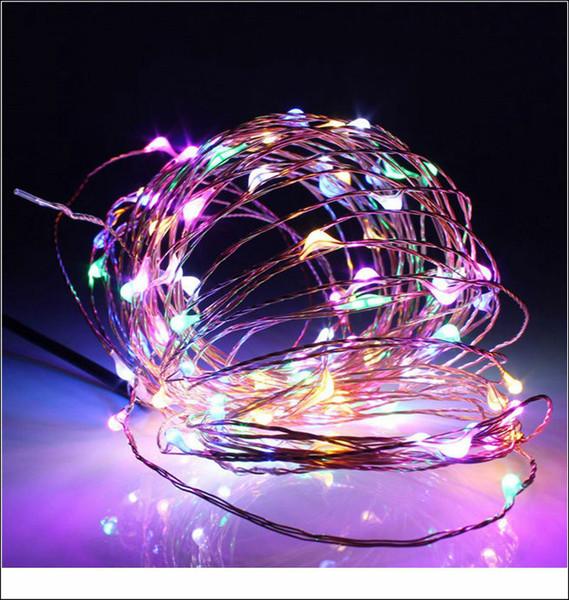 All'ingrosso-5m 50leds filo di rame LED Starry Lights 12V DC LED String luce esterna impermeabile vacanza albero di Natale vacanza lampada da giardino