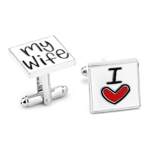 2018 Best Selling New High Quality Fun Cufflinks I Love My Wife Letter  Cufflink For Men From Smoke_factory, $63 32 | Dhgate Com