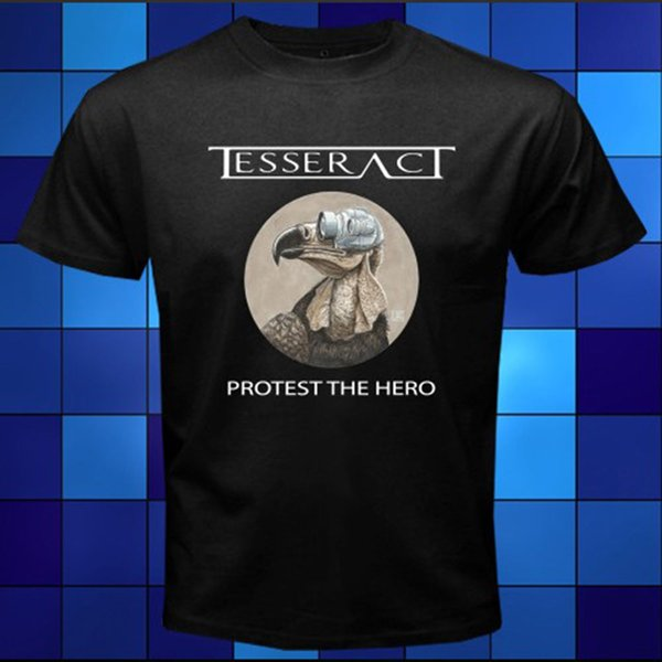 New TESSERACT Protest The Hero Rock Band Black T-Shirt Size S M L XL 2XL 3XL Great Discount Cotton Men Tee