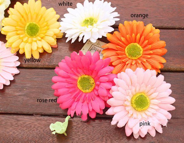 12CM diameter free shipping artificial african chrysanthemum daisy flower head used for wedding car/wall/hat/hair or garden ornament large