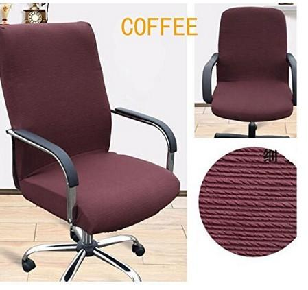 Office Slipcovers Cloth Chair pads Removable Cover stretch cushion Resilient Fabric Coffee