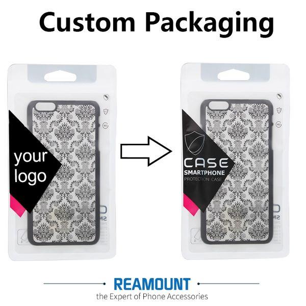 Nuovo arrivo nome personalizzato società nome cerniera serratura di plastica trasparente pvc sacchetti di imballaggio per la cassa del telefono per iphone 7 7plus sacchetto di imballaggio della cassa del telefono