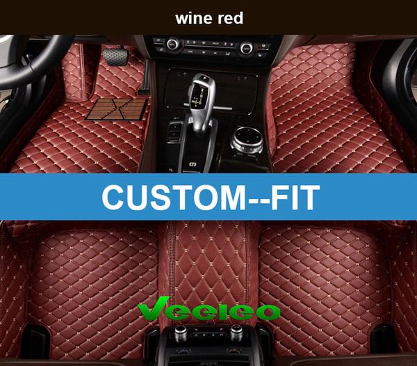 Veeleo Custom Fit - 6 Colors Leather Car Floor Mats for Lexus All Series Waterproof Anti-slip 3D Car Mats Front & Rear Carpets