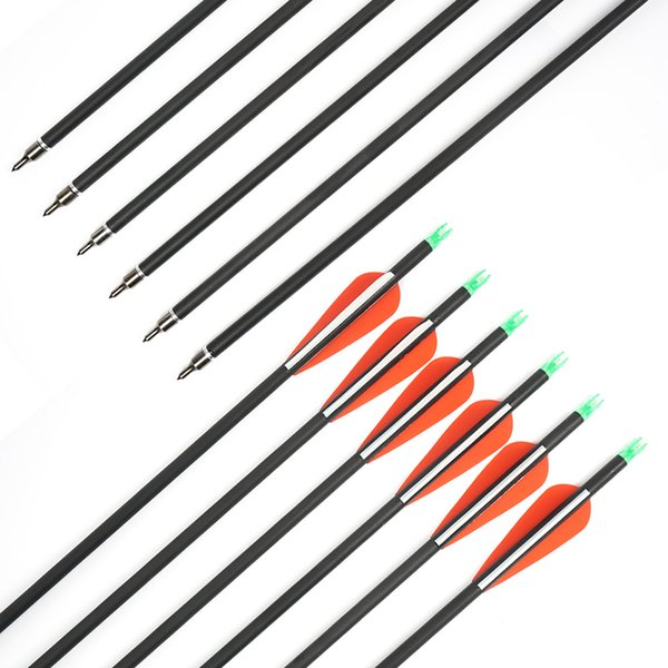 Fiberglass Archery Arrow Outdoor hunting 30 Inch Arrows Replaceable Tips for Recurve and Compound Bow