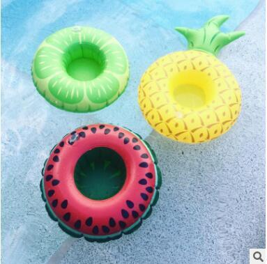 Inflatable donuts tubes coke Phone Cup Holder swim pool floating toys fruit Sweet Buns Cup Holder Drink Botlle Holder