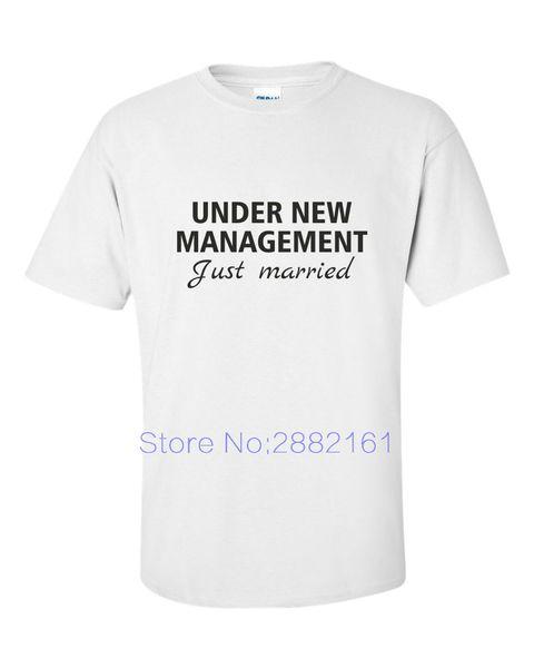 UNDER NEW MANAGEMENT Just Married funny T Shirt Wedding Groom Honeymoon Gift