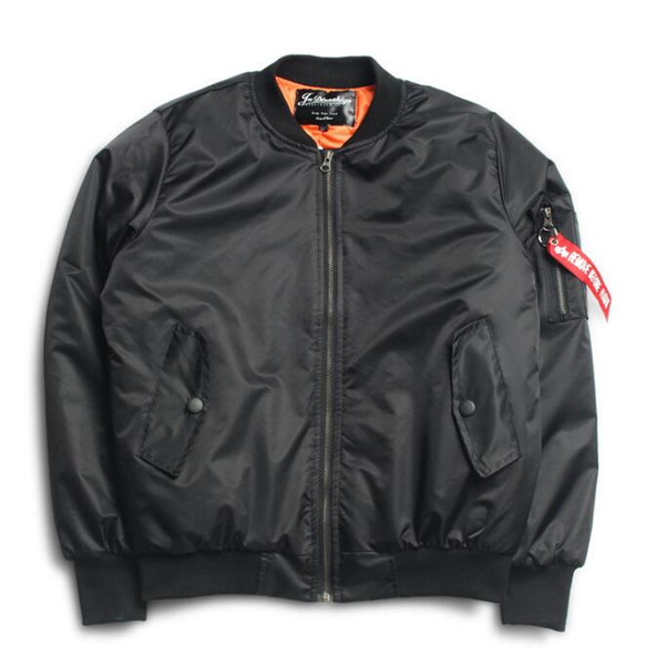 Anarchy Big sam KANYE WEST tour MA1 pilot jackets Bomber Jackets couples thick Air Force Embroidery Baseball Military Coat