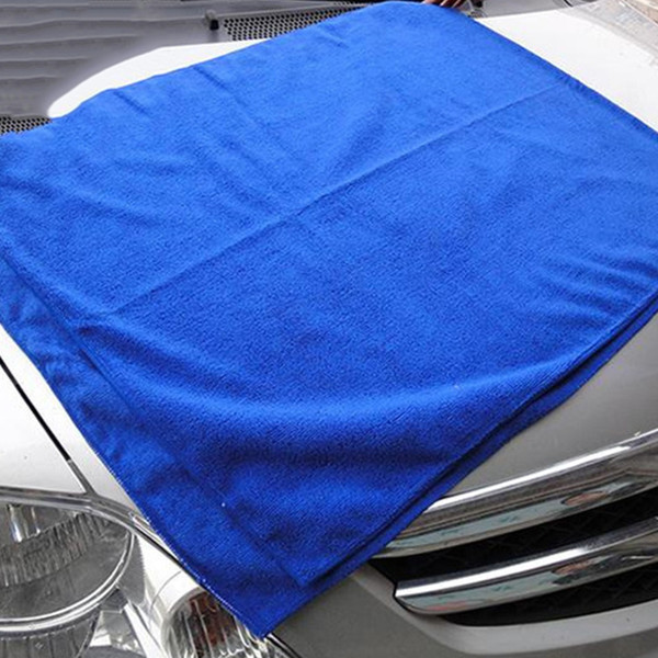 Wholesale- 1pc High Quality 30*30cm Microfiber Absorbent Cleaning Car Detailing Soft Cloths Wash Towel Car Styling Car Accessories Clean