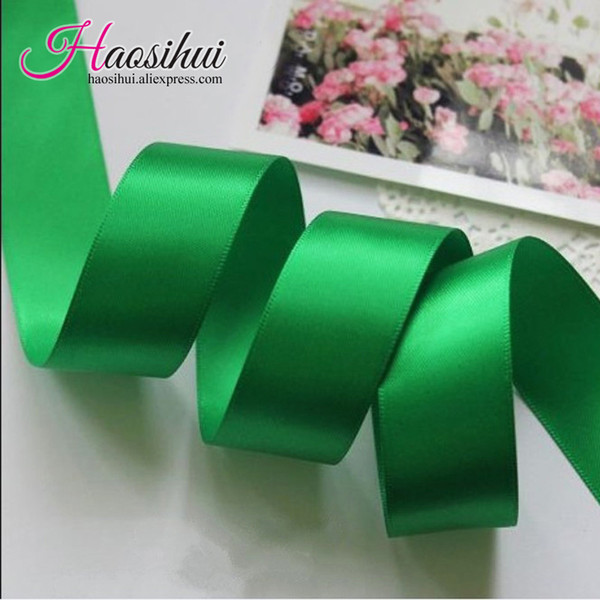 Livraison gratuite 1 '' (26mm) Polyester Satin Ruban 100 yards / lot Solide 196 Couleurs Ruban DIY hairbows Enfants paquet cadeau