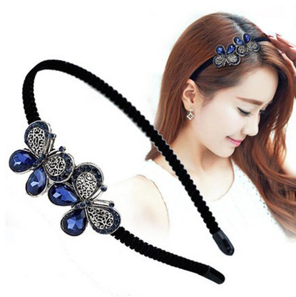 High Quality Women Handmade Headband Flower Crystal Hairband Hair Band Hair Clasp Hot Selling free ship