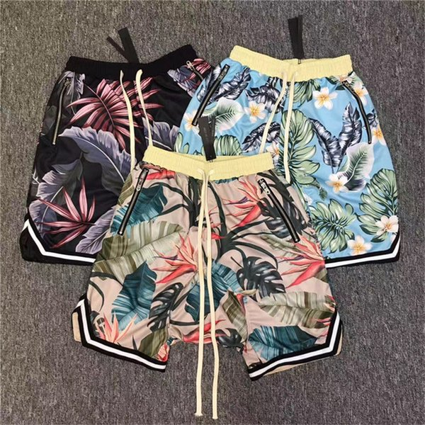 best selling Fear Of God Shorts Men Women 2017 New Floral The 1987 Collection FOG fearofgod Beach Mesh Shorts Summer Style Fear Of God Shorts