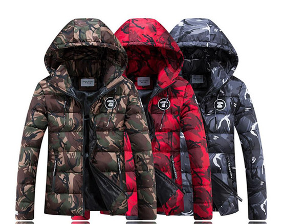 venda quente! Novo para baixo jaqueta de algodão curto estilo jovens amantes e jaqueta de algodão de camuflagem dos homens e das mulheres com quente algodão-acolchoado roupas