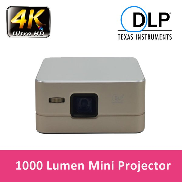 Wholesale-Mini Portable Pico Projector Android Wireless Projector Wifi Bluetooth HDMI USB DLP Projector 2600mah Battery for movie Video