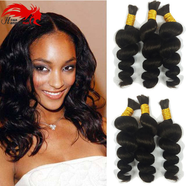 top popular Human Hair For Micro Braids Bulk Hair No Weft Brazilian Virgin Loose Wave Human Remyn Hair Braiding 2019