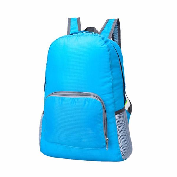 Hohe Qualität Sport Reiserucksäcke Portable Zipper Soild Nylon Rucksack Tägliche Reisen Frauen Rucksack Umhängetaschen Falttasche