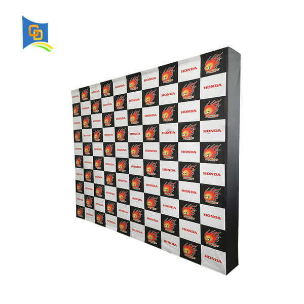10ft Fabric Pop up Display Banner Stand Tension Fabric Frame Exhibition Wall Stand for Trade Show with Graphic (with end caps)