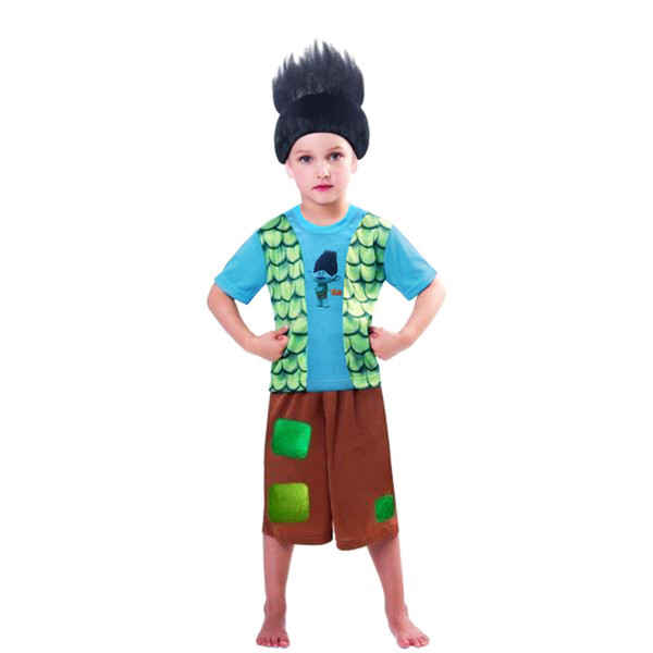2017 Children Summer Boys Trolls Pajamas Suit Short Sleeve T-shirts + Pants 2 Pcs Set Kids Sleeping Clothing Set 3193