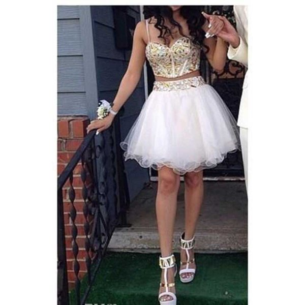 2017 Shiny Rhinestone Bust Corset Short Prom Dresses Spaghetti Straps Tulle Sexy Cocktail Party Dress Graduation Homecoming Gowns