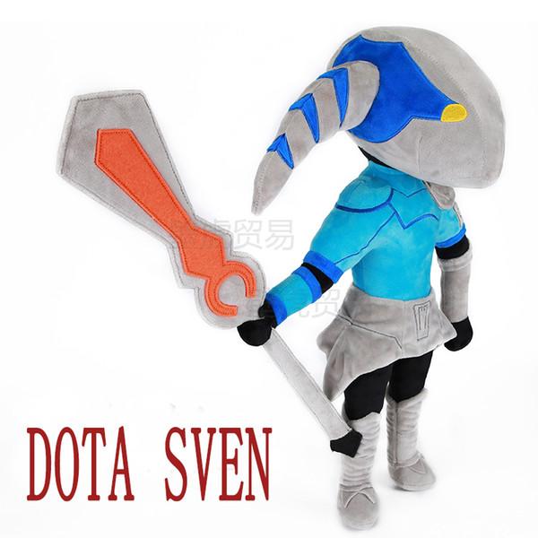 top popular DOTA 2 action Figure Sven 50cm plush toys Collection dota 2 figure Toys 2019