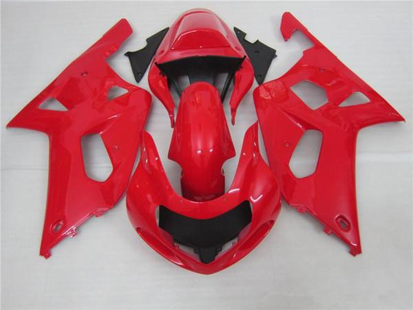 Бесплатные подарки Новый ABS мотор обтекатель комплекты 100% подходит для SUZUKI GSXR600 GSXR750 01 02 03 K1 R600 R750 2001 2002 2003 кузовной комплект прохладный все Красный