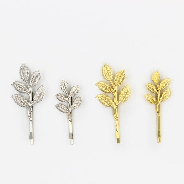 24pcs Free Shipping British style romantic olive branch leaves hair clip hairpin hair wear Jewelry