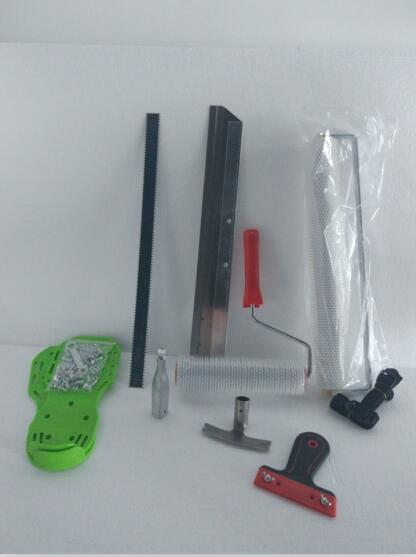 Cimento Auto-nivelamento Kit Epoxy Piso Paint Roller Blade Spike Ferramenta de Construção