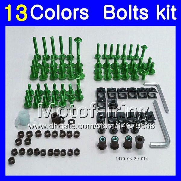 Kit completo de pernos de carenado para YAMAHA T-MAX500 12 13 14 MAX 500 TMAX-500 T MAX500 2012 2013 2014 Kit de pernos de tuerca para tornillos de tuerca 13Colors
