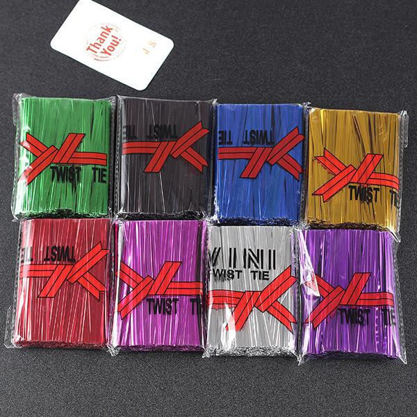 100 stücke 0,4mm * 10 cm Twist Ties Verpackung Seil Drahtgurt Für Lebensmittel Brot Cookies Bäckerei Taschen Dichtungen Verpackung
