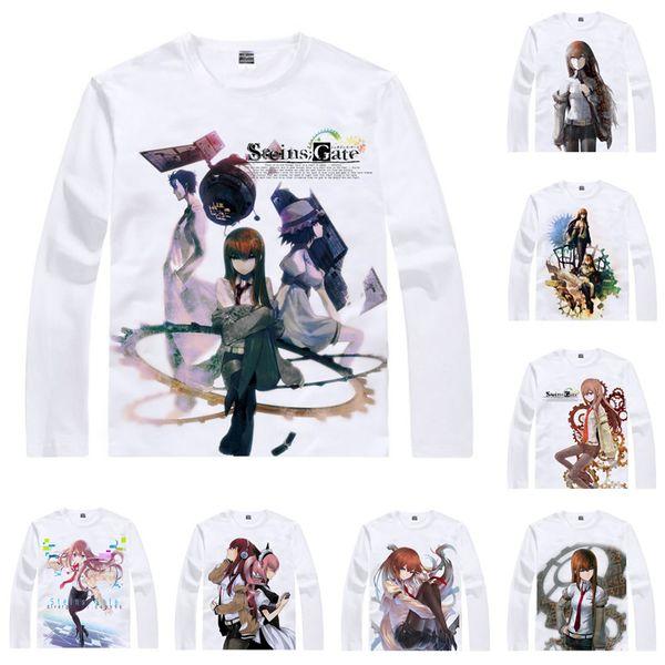 Anime Shirt Steins Gate T-Shirts Multi-style Long Sleeve Makise Kurisu Shiina Mayuri Cosplay Motivs Kawaii Shirts