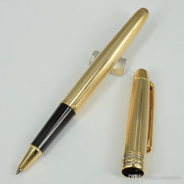 High quality Luxury pen M 163 Golden wave/drawing/flower pen golden clip stationary roller ball pens