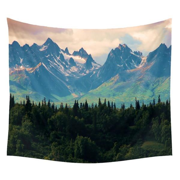 Décor de mur Tapisserie Nature Motif Impression Serviettes De Plage Tapis De Yoga Sun Block Rond Bikini Cover-Up 150 * 130cm