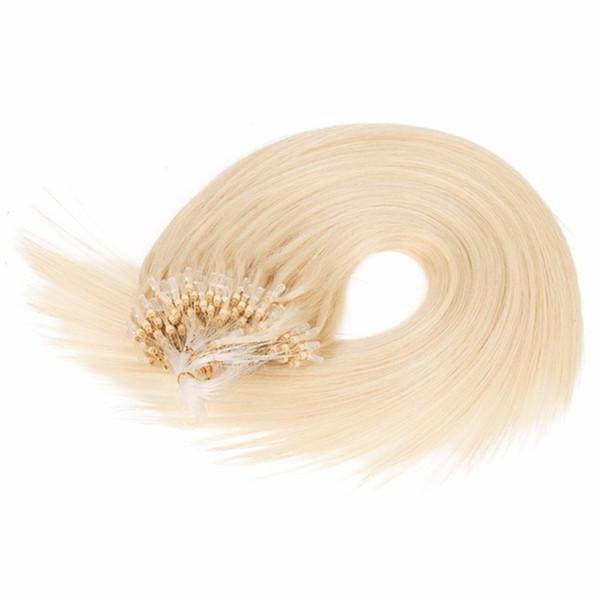 ELIBESS HAIR-Micro Loop Nano Ring Hair Extensions 0.5g/s 200s/Pack Straight Human Hair Remy Natural Hair Black Brown Blonde