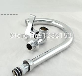 Wholesale- free shipping wall mounted kitchen faucet 1/2inch single hole cold water sink tap basin water tap
