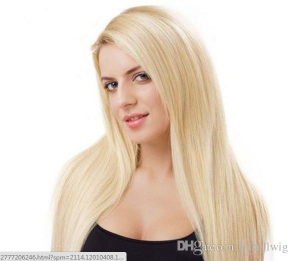 Full Lace Wig Highest Quality Blonde Human Hair 100% Wig In Front Of The Golden Beads Female Around 613# Peru Hair Wigs Are Full Of My Shoes