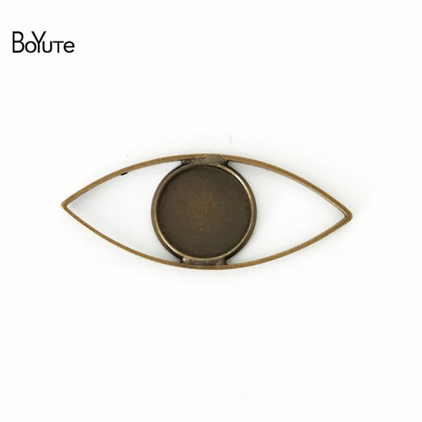 BoYuTe 40Pcs Antique Bronze Silver Plated 12MM Cameo Cabochon Base Setting Diy Pendant Blank Bezel Tray Jewelry Accessories
