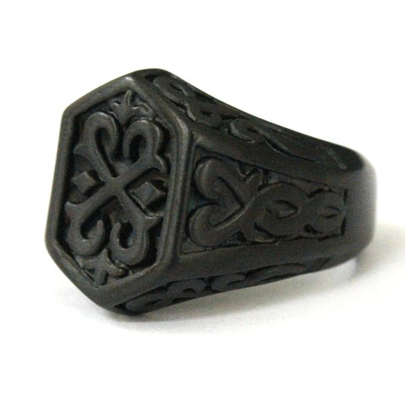 Wholesale Price Newest Biker 316L Stainless Steel Fashion Black Thor Hammer Ring Band Party New Arrival Cool Mens Ring