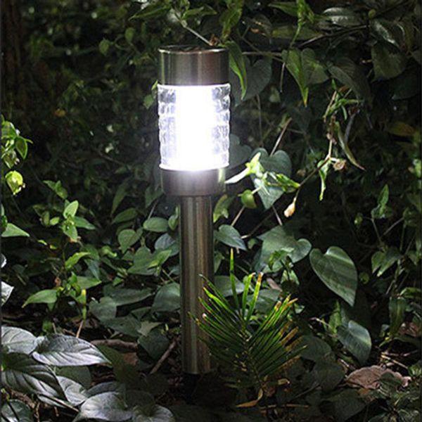LED Solar Garden Column Lights 43cm Stainless Steel Power Outdoor Waterproof Home Lighting Decorations Landscape Lamps Yard Direct Shenzhen