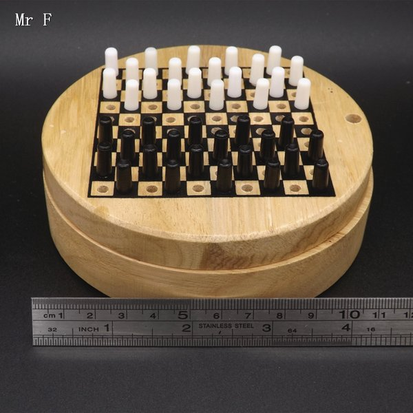2 in 1 Single Draughts Puzzle Funny Chess Games Toys Wooden For Kids Intelligence Educational Prop Christmas Gifts
