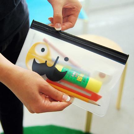 small zipper cartoon plastic Waterproof Document pocket bill pouch file Pen Filing Pocket Folder Office & School Supplies