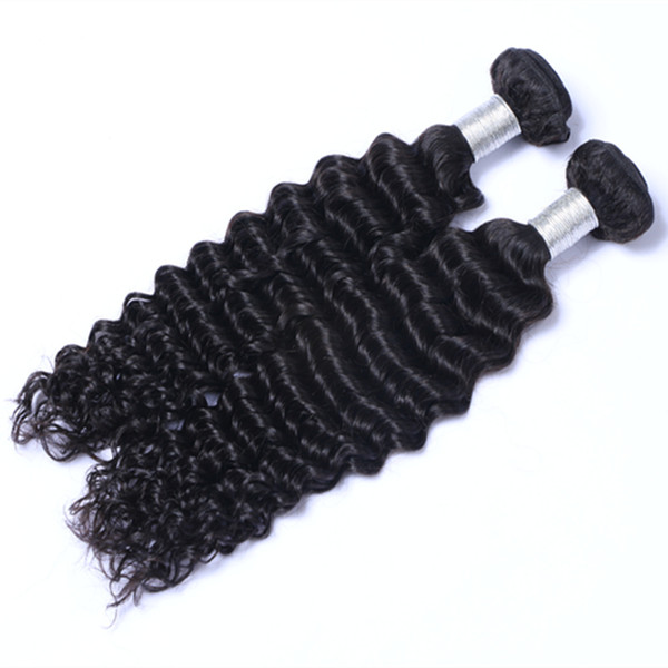 Can Be Dyed Ombre Color Hair Brazilian Indian Peruvian Deep Curly hair extension unprocessed human virgin hair weave Can Be Dyed