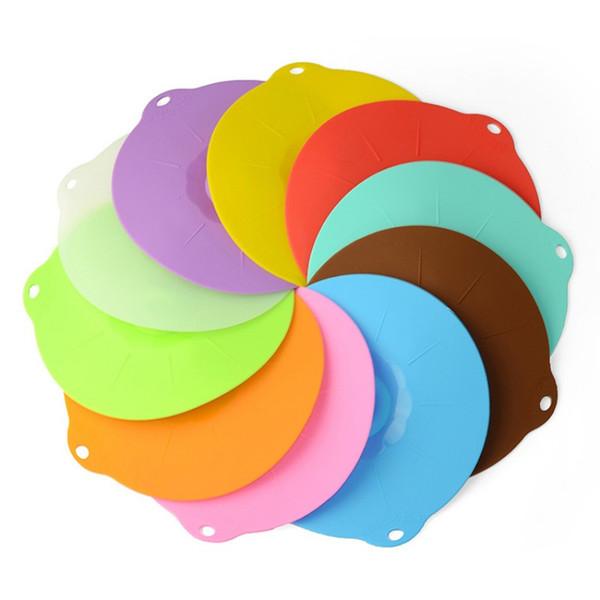Couvercle de bol circulaire Silicone Seal Cap Plaque chauffante Multicolor Grade alimentaire Four à micro-ondes Fresh Keeping Couvercle Ustensile de cuisine 2 82lm G R