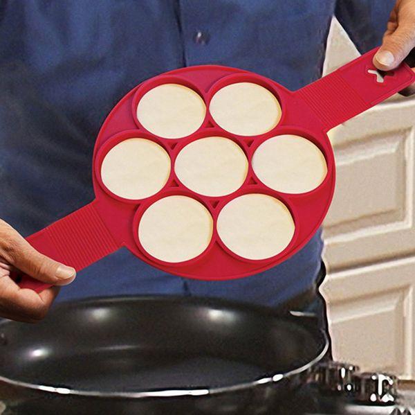 DHL Free Flippin Fantastic Fast Easy Way to Make Perfect Pancakes Nonstick Pancake Maker Egg Ring Maker Kitchen Baking Moulds