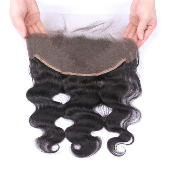 Virgin 13*6inch Lace Frontal Closure With Baby Hair Indian Body Wave Human Hair Lace Frontals Bleached Knots
