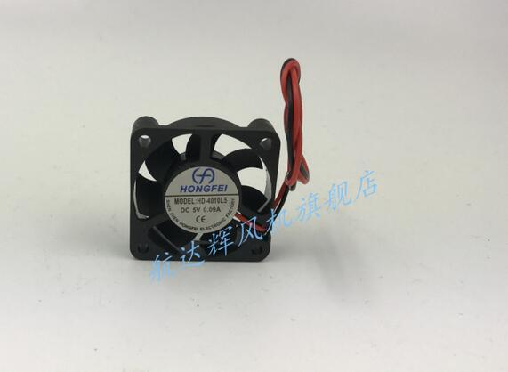 Wholesale: HD-4010L5 4010 5V 0.09A CPU hard disk box 2 line fan fan Hongfei DC fan