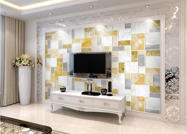 Acquista Moda Arredamento Casa Decorazione Camera Da Letto Semplice HD  Marmo Portfolio Murale Carta Da Parati 3d Carte Da Parati 3d Tv Sullo  Sfondo A ...