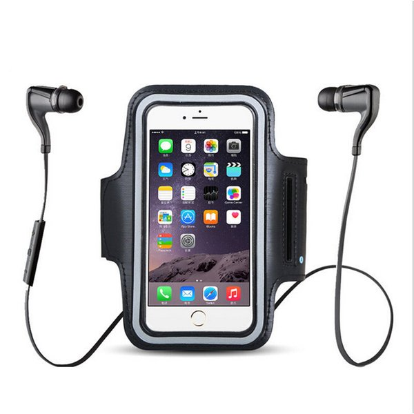Wholesale-Sports Exercise Running Gym Armband Pouch Holder Case Bag for Cell Phone outdoor riding Arm bag Free Shipping To All Country