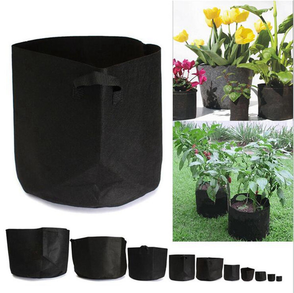 top popular Non Woven Grow Bag Pouch Root Container Grow Pots Outdoor Gardening Planting Bags Cultivation Bags OOA1561 2021