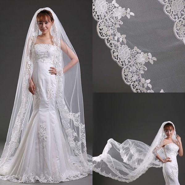 Elegant 3m length wedding veils ivory one layer lace bridal veils elegant 3m length wedding veils ivory one layer lace bridal veils wedding accessories bridal veils styles junglespirit Image collections