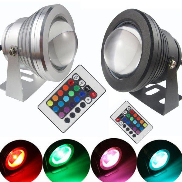 Haute puissance étanche LED Flood ampoule Lampe 10W LED lumière sous-marine 12v 110v CA 85-265V RGB / projecteur extérieur changeable