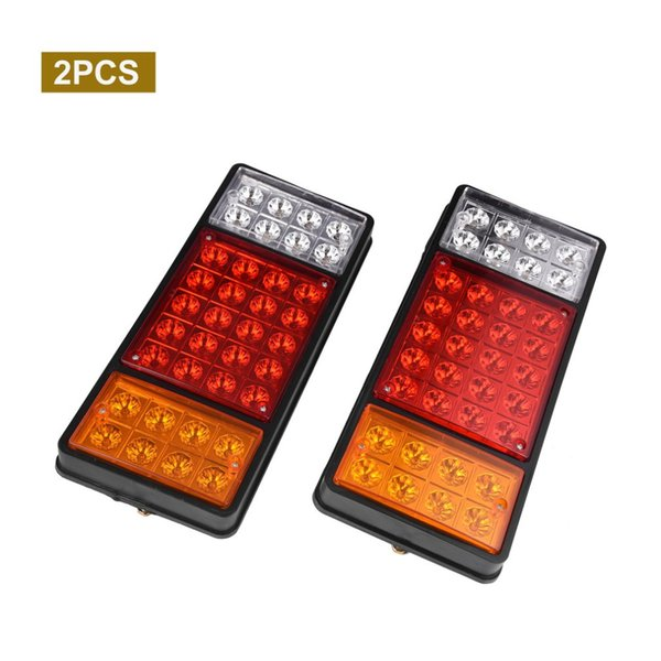 New 2pcs 36 LEDs Truck Taillights Stop Rear Turn Indicator Reverse Lamp Durable Waterproof Dustproof Shockproof Free Shipping